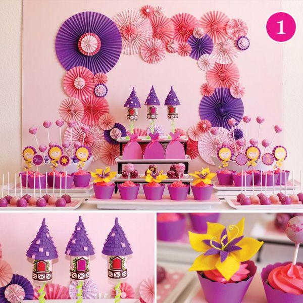 {Party of 5} Tangled Birthday, Ice Cream Social, Superhero Birthday, First Birthday & Mario Party