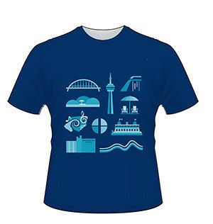 Waterfront Icons T-shirt