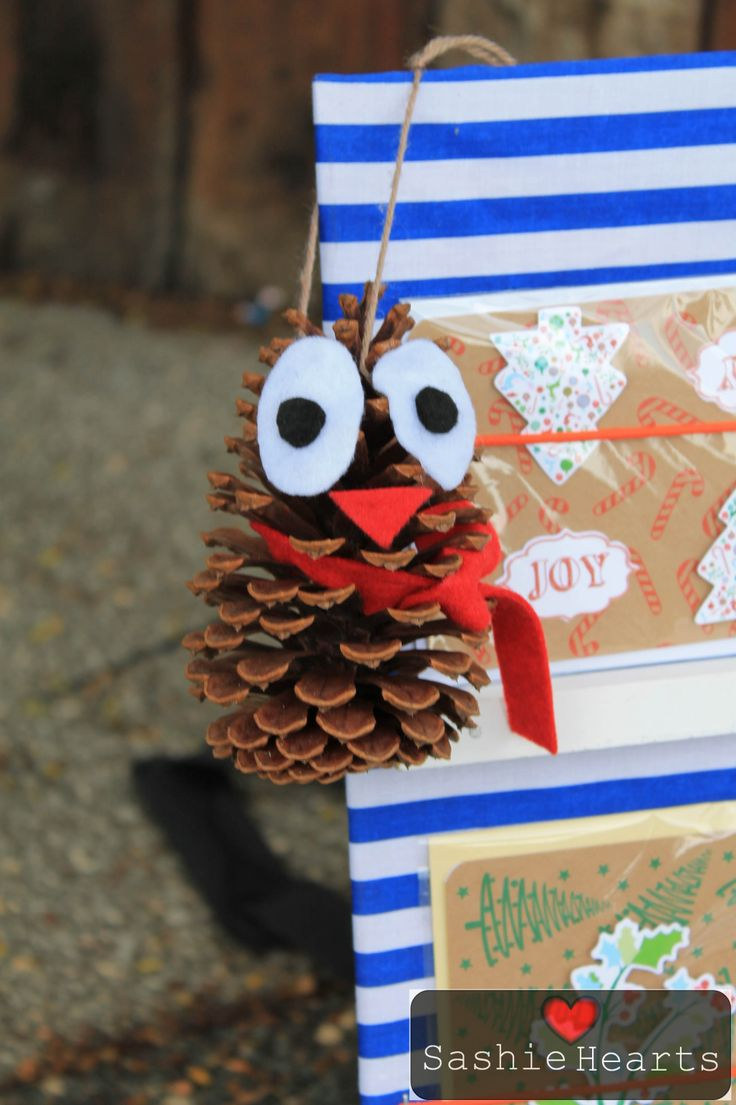 Olive the owl... recycled decoration