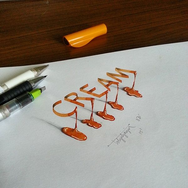 3D Lettering with Parallelpen-Brushpen&Pencil - Part 4 on Behance