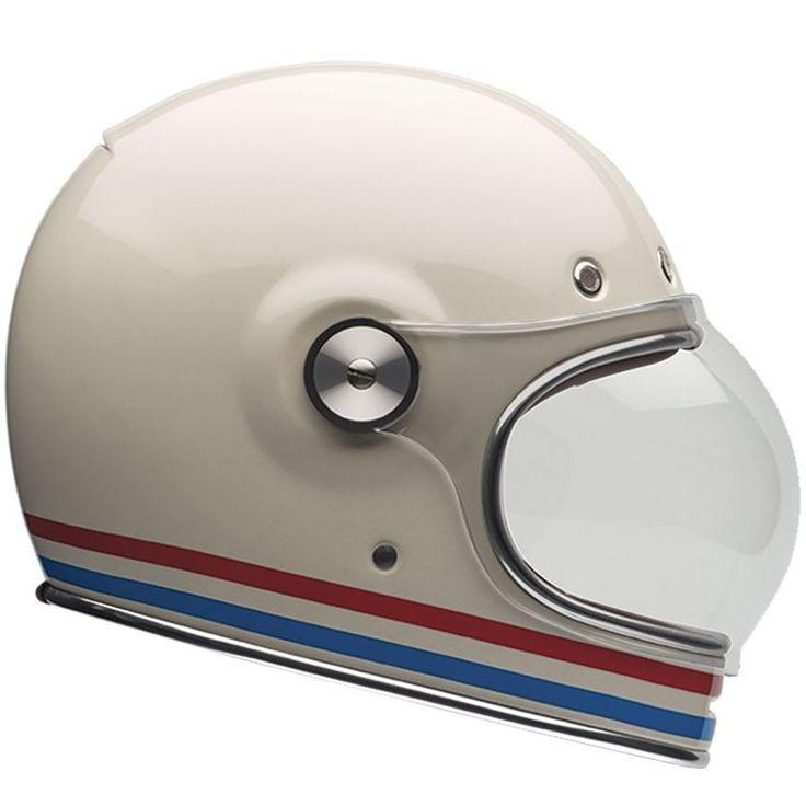 Bike Helmets and Motorcycle Helmets - Bell Helmets UK. Bell Helmets Bullitt Stripes Vintage White