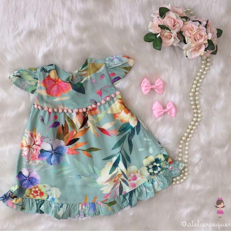 """365 curtidas, 5 comentários -  Pequena Flor  (@atelierpequenaflor) no Instagram: """"E hoje nossas pequenas flores encantam nosso jardim com essa lindeza de vestido!!! Alegre e cores…"""""""