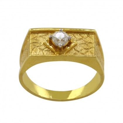Gold Rings Online: Buy Remo One Men Diamond Ring of article Ring for Men from…