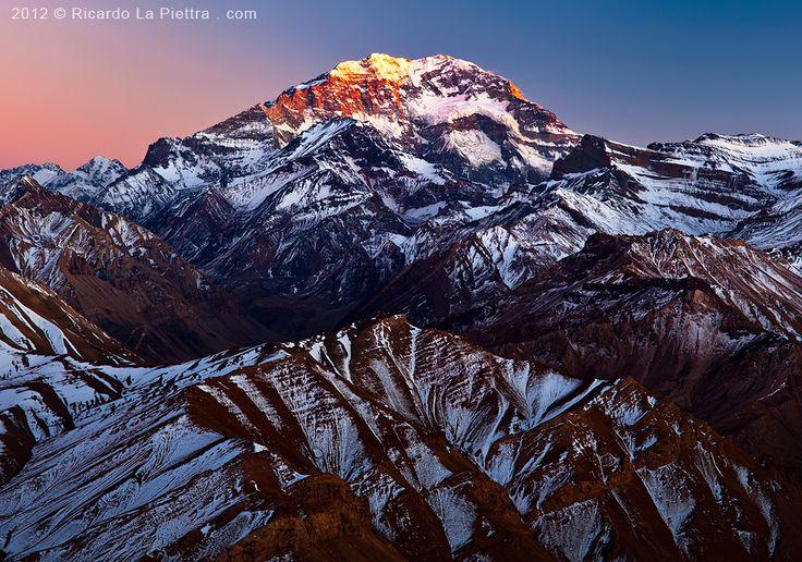 """500px / Photo """"Aconcagua Alpenglow"""" by Ricardo La Piettra www.ricardolapiettra.com"""