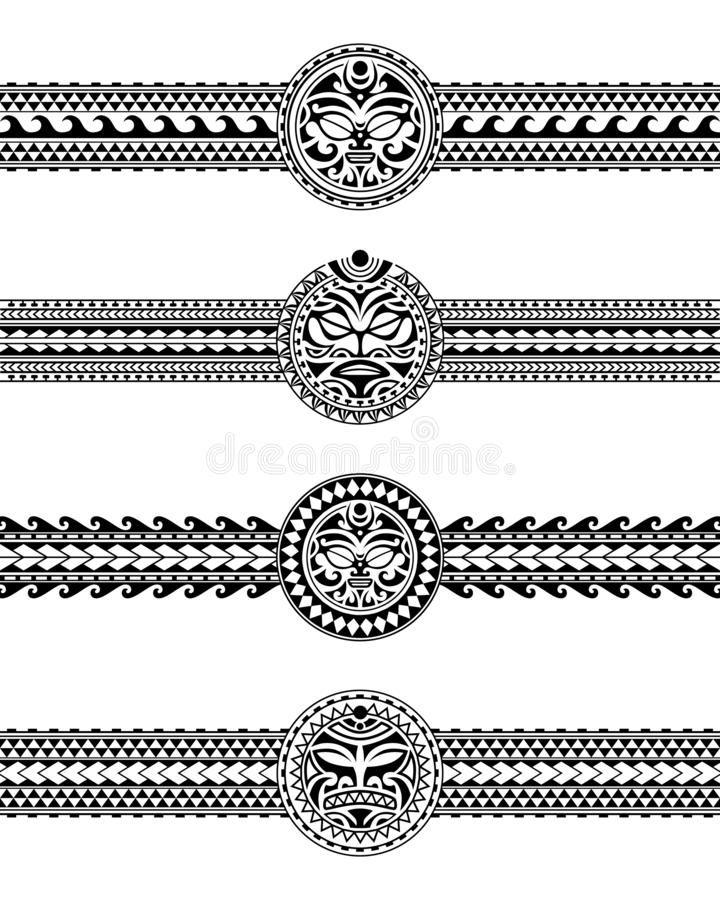 Set Of Maori Polynesian Tattoo Border Tribal Sleeve Pattern Vector Samoan Bracelet Tattoo Design F In 2020 Tribal Armband Tattoo Armband Tattoo Design Tattoo Bracelet