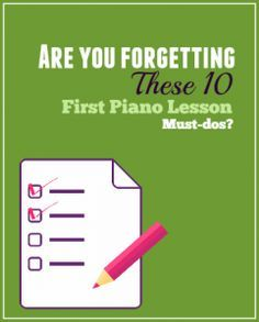 10 things that should happen at a first piano lesson