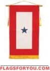 "8"" x 14"" US Made 1 Star Service Banner"