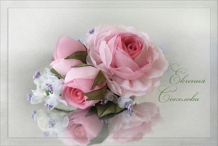 Брошь цветы Розовый букет – купить в интернет-магазине на Ярмарке Мастеров с доставкой