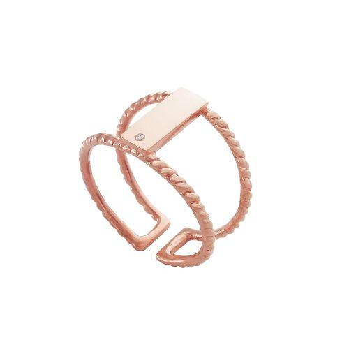 Skye Double Ring - Rose Gold | Nicole Fendel