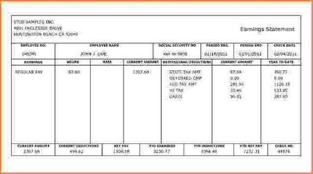 Pin On Pay Stub Templates