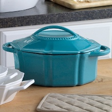 Make your Easter meal pretty.  Cast Iron Casserole Dish.