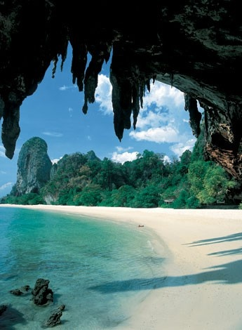 Beautiful cave along the beach