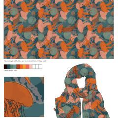 Vote on my Jelly Fishes Scarf Design for @PrintedVillage
