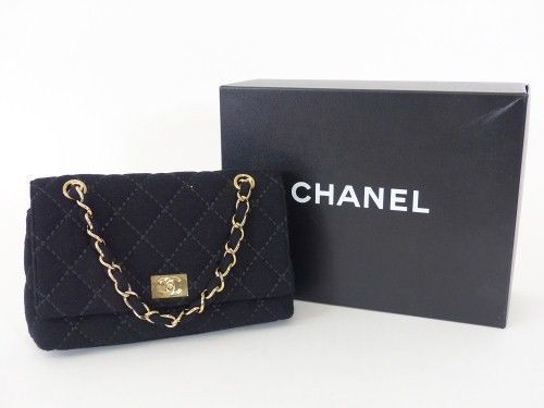 chanel stepp pochette tasche bag schwarz mit karton ketten. Black Bedroom Furniture Sets. Home Design Ideas