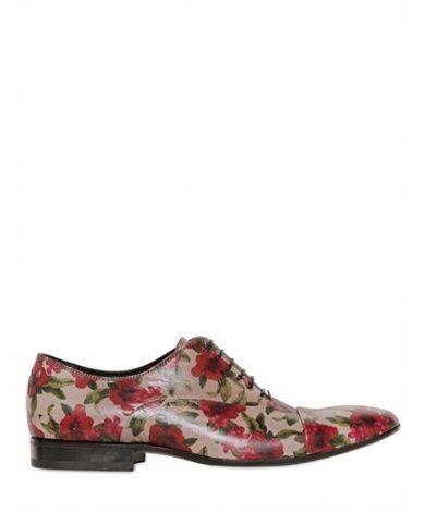 Мужская обувь - Ботинки GIANNI BARBATO - 'GIANNI BARBATO - КОЖАНЫЕ ТУФЛИ С ЦВЕТОЧНЫМ ПРИНТОМ' купить в интернет магазине Luisaviaroma