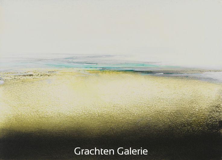 Z.t. 9 | Andre Hoppzak | Schilderij |  Painting | Kunst | Art | Groen | Green | Geel | Yellow | Blauw | Blauw | Wit | White | Zwart | Black | Grachten Galerie