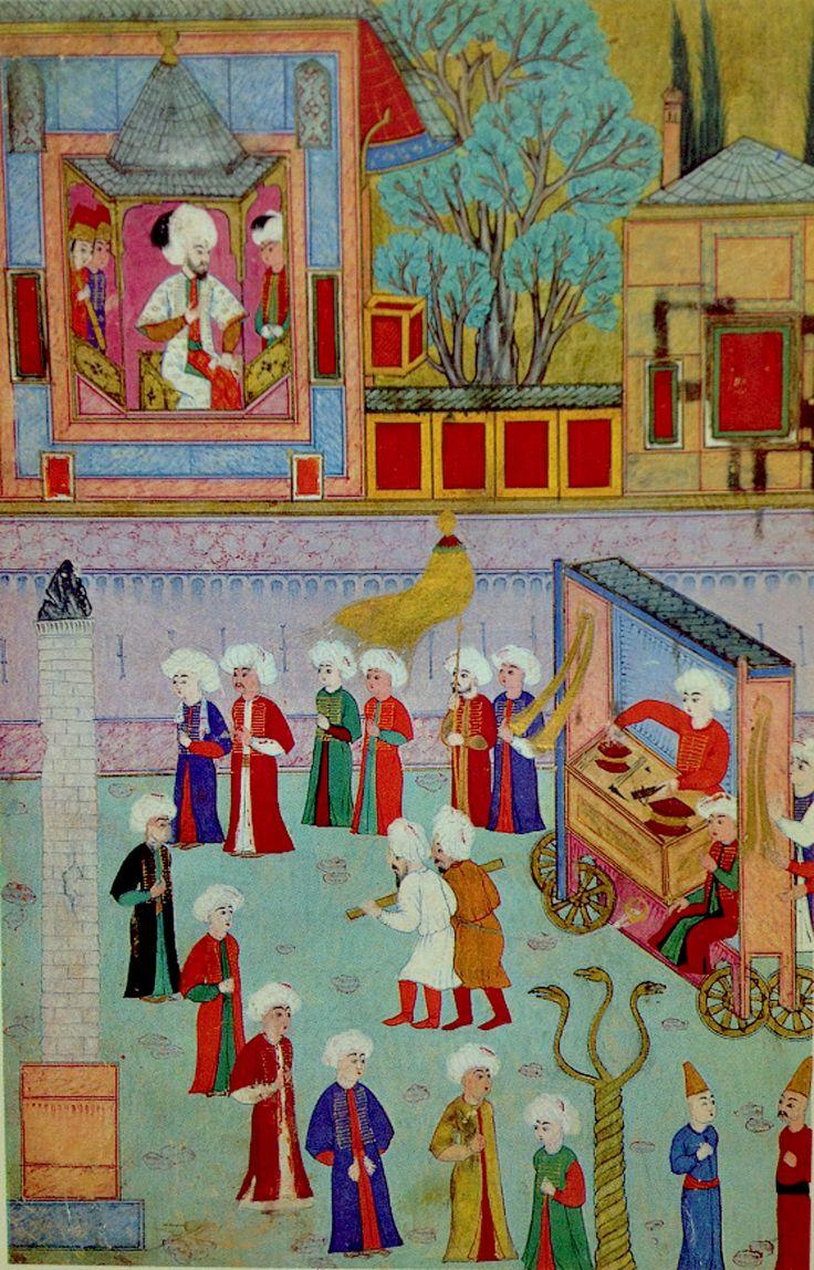 #minyatür #NakkaşOsman #Surname-i Humayun #food #kebab (The guild of kebab cooks)