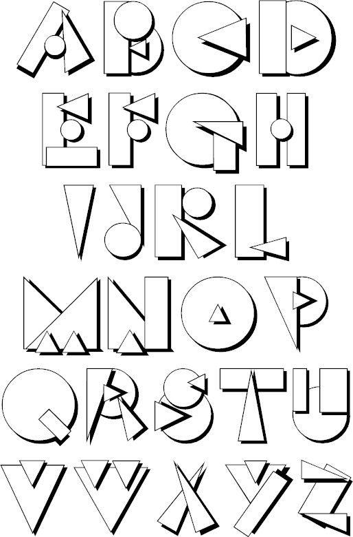 Funky Upper Case Alphabet