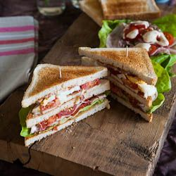 Classic club sandwich for the monthly mingle american theme