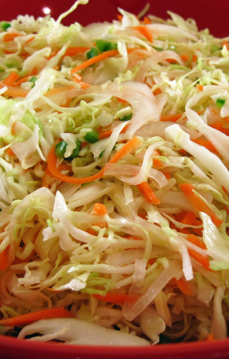 Quick Curtido (Salvadoran Cabbage Slaw) is best made ahead of time - perfect for entertaining!