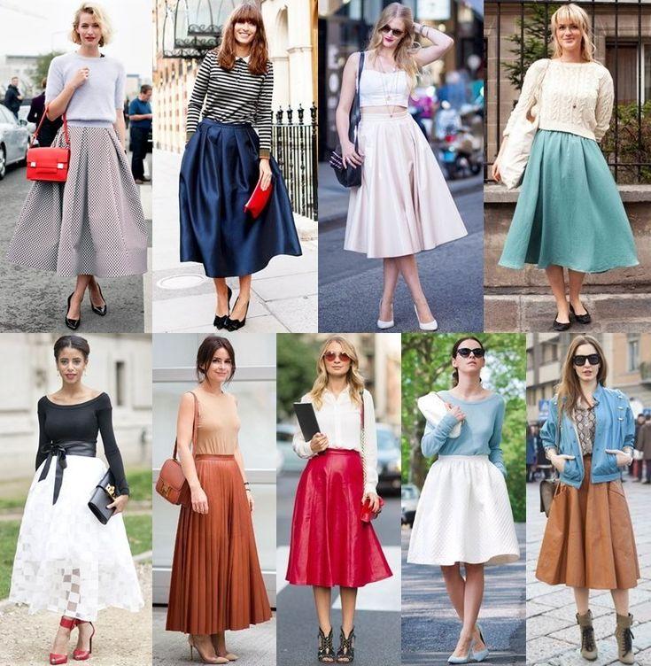 Spring Summer 2014 Full Skirt Trend Street Style