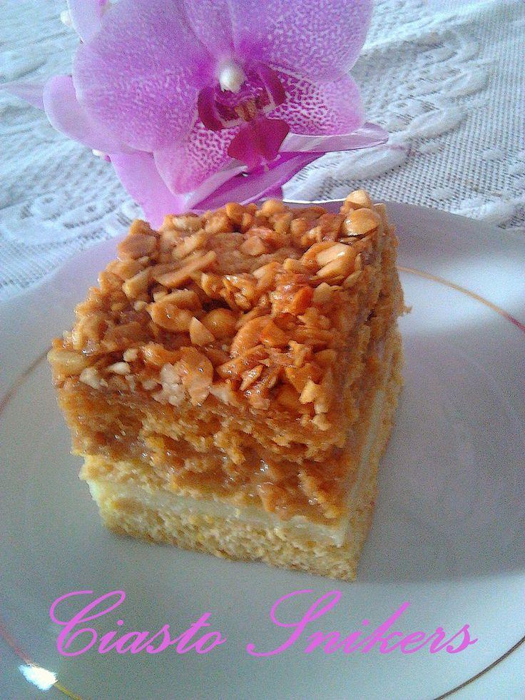 Ciasto Snikers na cieście miodowym PRZEPIS