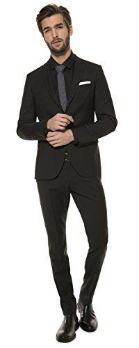 Herren Slim Fit Baukasten Anzug aus reiner Schurwolle, Marke: Lanificio Tessile d