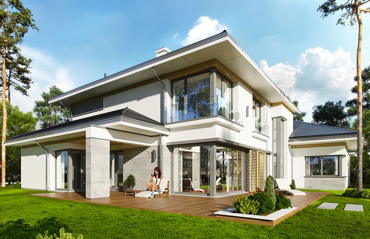 Projekt domu Spokojny zakątek - wizualizacja tylna 2