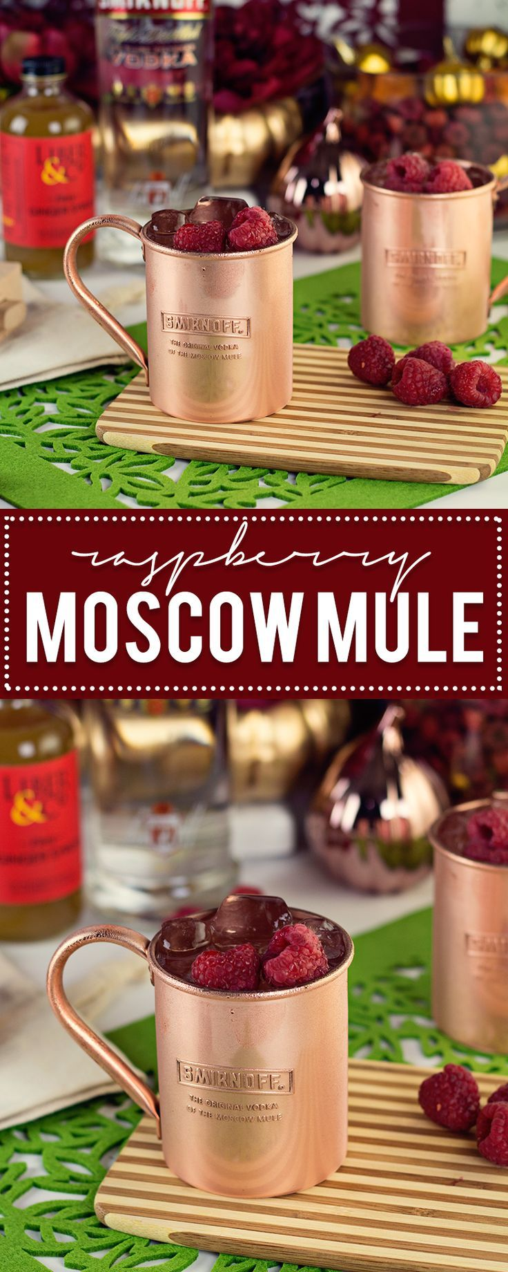 Ready to hop into Fall? Try out this Raspberry Moscow Mule, a creative spin on the ordinary Moscow Mule created by Smirnoff.