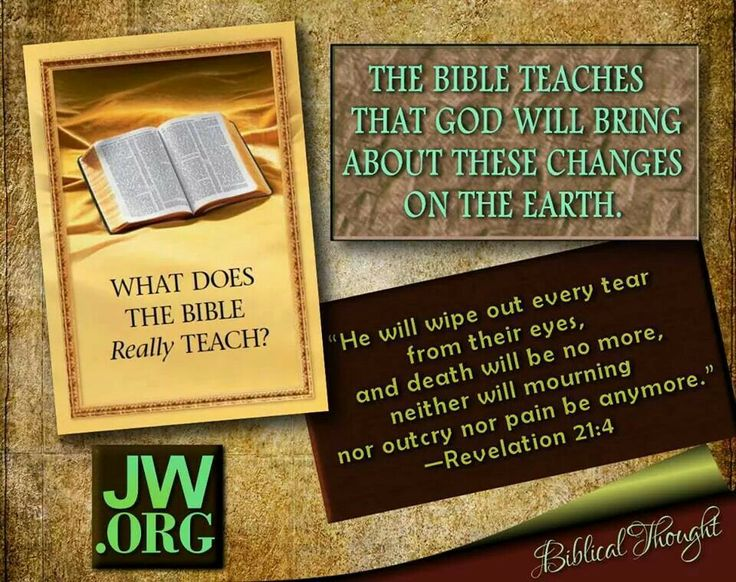 Read about this, from this book on jw.org , download, or listen to audio.