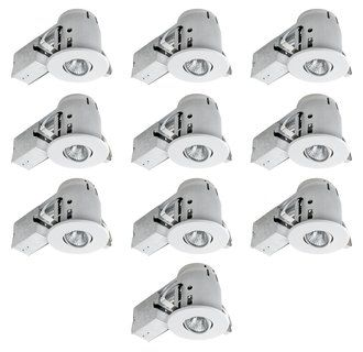 """Globe Electric 90540 4"""" New Construction Recessed Lighting Kit Combo 10 Pack  at Build.com."""