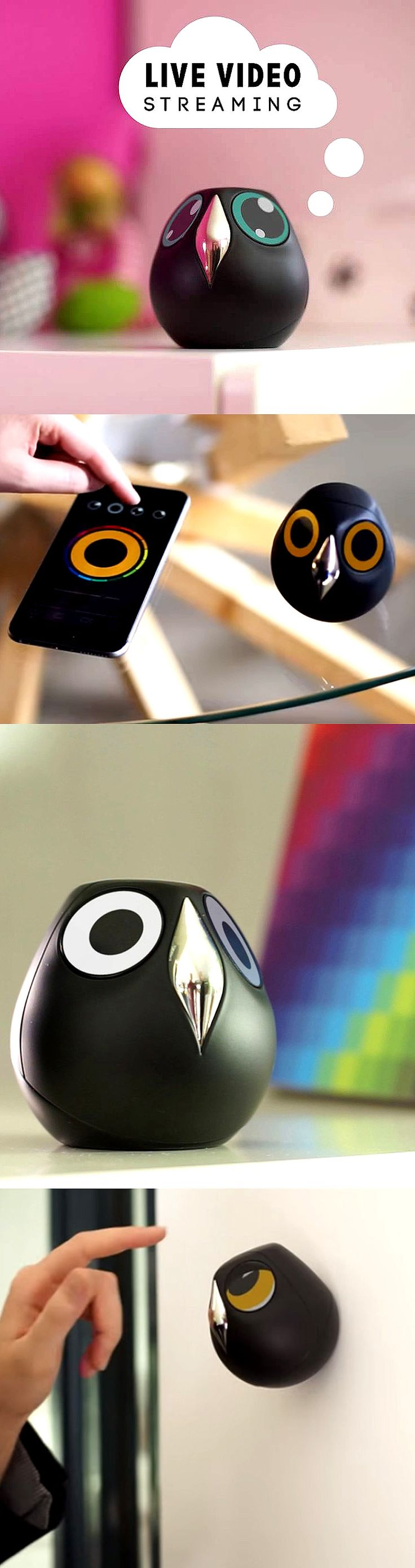 Feel the secured but comfortable with this adorable little home-monitoring owl.  Check it out==> | ULO - The Cutest But Smart Surveillance Camera Is Here! | http://gwyl.io/ulo-smart-surveillance-camera/