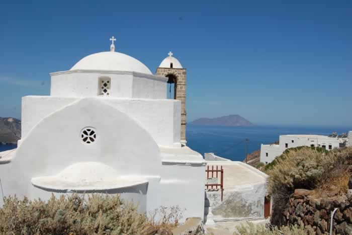 Looking out over the water from Milos