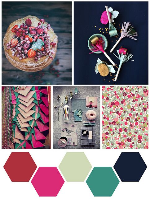 ➸Pallet: For Blog and Branding Navy + Fuchsia+Turquoise+Sparkly Silver.