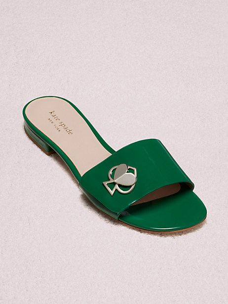 b15936acde1d Kate Spade Ferry Slide Sandals, Green Bean - Size 10.5 | Products in ...