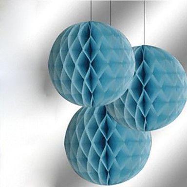 """10 """"bola de la flor de papel de tejido de nido de abeja (más colores) – USD $ 1.95"""