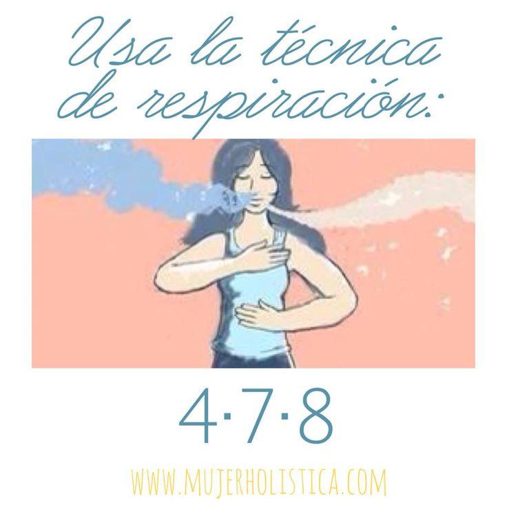 Técnica de respiración 4-7-8 Respira por tu nariz contando hasta 4. Contén la respiración contando hasta 7 y suelta el aire fuerte (como inflando un globo) contando hasta 8. Repite el ciclo de 3 a 4 veces. Solo te tomará unos minutos pero bajara significativamente tus niveles de estres y aumentará tu sentido de bienestar casi inmediatamente.