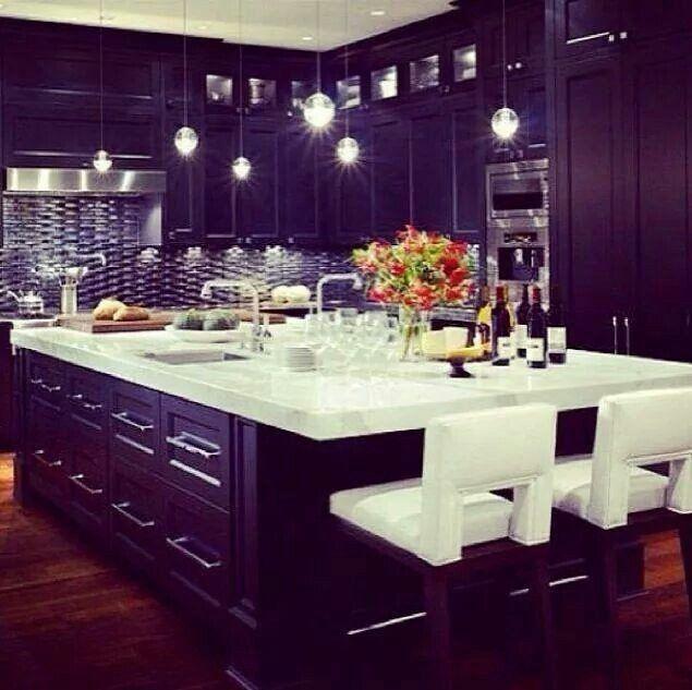 Purple And Black Kitchen Decor