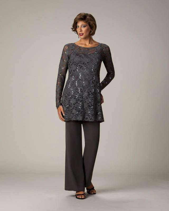 Two Pieces Lace Top Long Sleeves Mother Of The Bride Gowns Formal Mother'S Pants Suits Custom Made Chiffon Custom Made Plus Size Joan Rivers On Joan Rivers Rivers From Sweetlife1, $111.86| Dhgate.Com