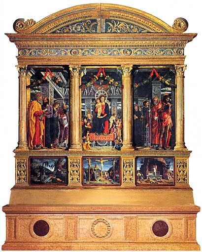 "Andrea Mantegna, ""Pala di San Zeno"", 1457-60, Verona, Chiesa di San Zeno."