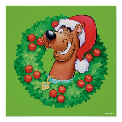 Scooby In Wreath Poster Zazzle Com Customized Scooby