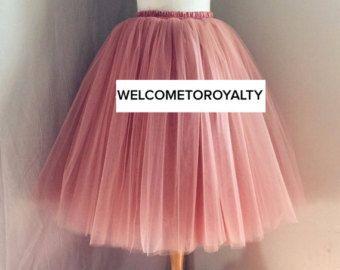 Mokka sehr flaumig Full geschichtet Petticoat von Welcometoroyalty
