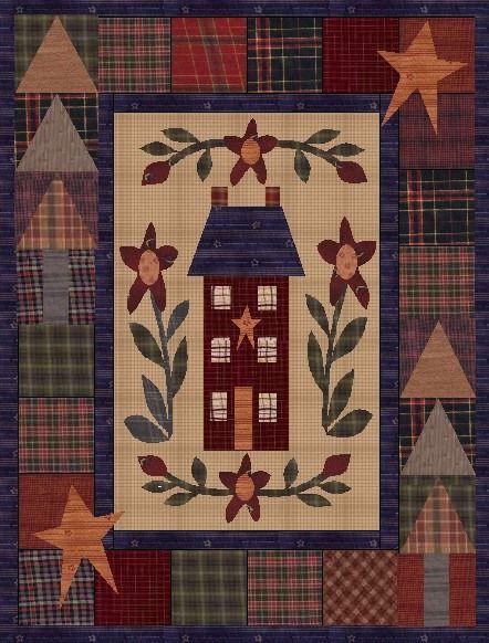 gratis patronen voor quilts, vaak met applique.