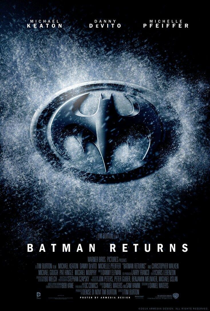 BATMAN RETURNS Movie PHOTO Print POSTER Film 1992 Tim Burton Michael Keaton 007