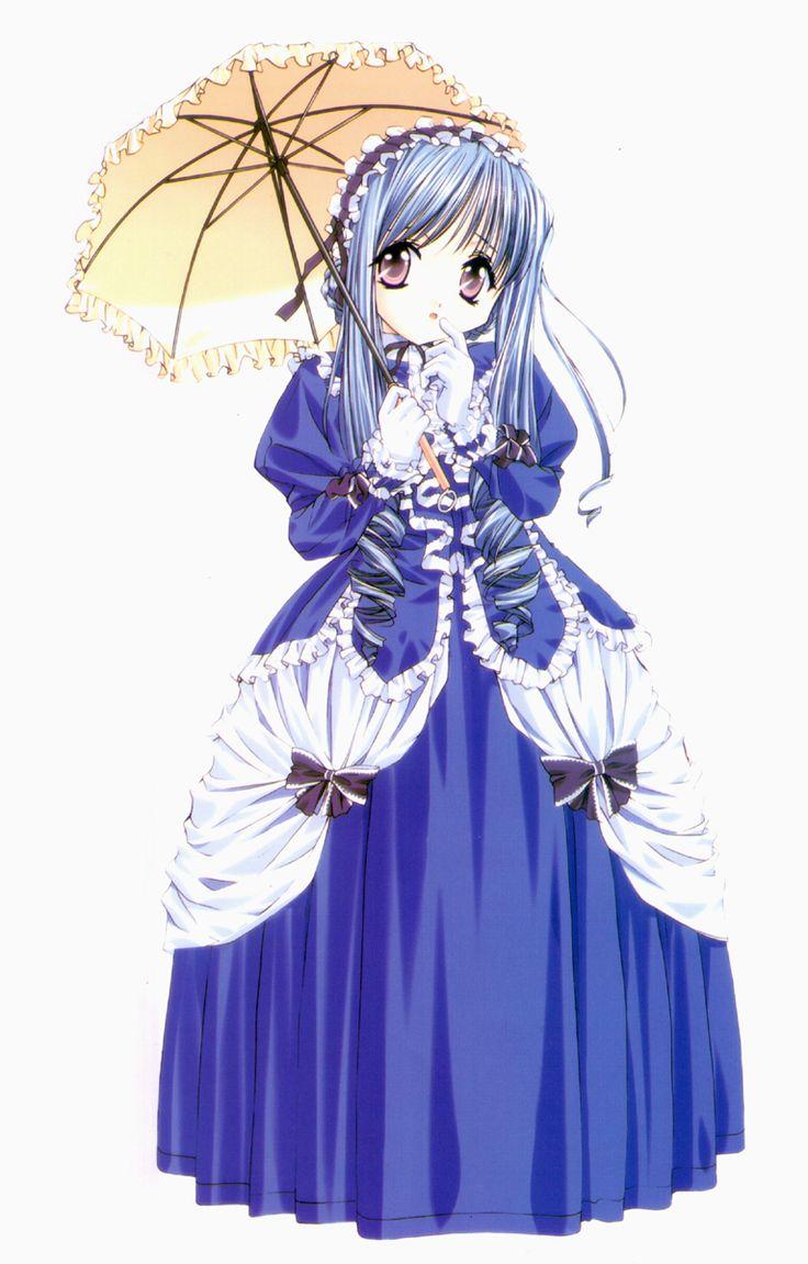 Anime princess blue dress princess anime girl characters - Manga princesse ...