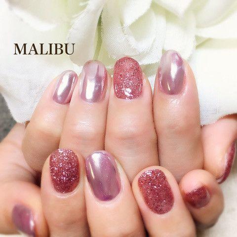 ピンクミラーネイル♪ の画像|恵比寿プライベートネイルサロンMALIBU
