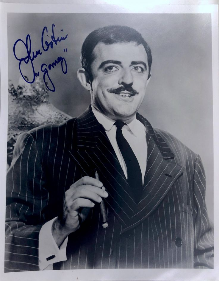 Gomez Addams, John Astin Signed Picture, Original 8 x 10 Black & White Autographed Vintage Photo, Certificate of Authenticity, 1960s TV Show by BarnabyGlenVintage on Etsy