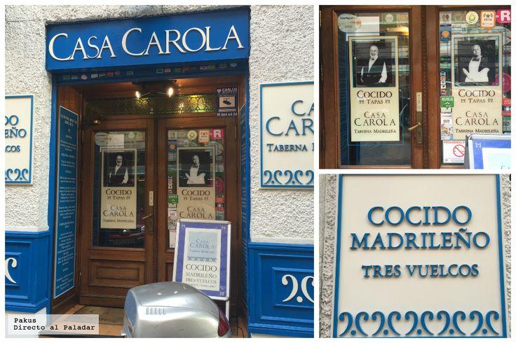 Casa Carola uno de los restaurantes de Madrid preferidos para tomar cocido madrileño. Crónica del menú, el restaurante con fotos de los platos y...