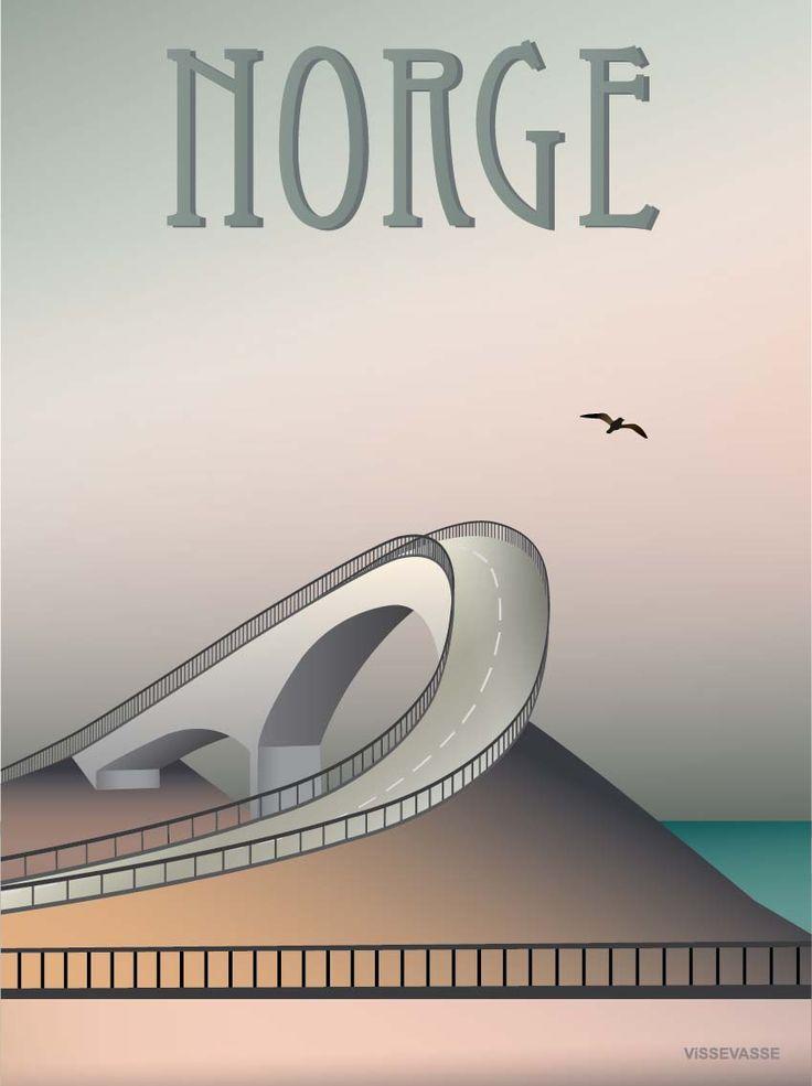 NORGE - plakat. Atlanterhavsvejen