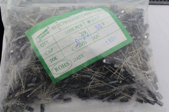 $10.49 (Buy here: https://alitems.com/g/1e8d114494ebda23ff8b16525dc3e8/?i=5&ulp=https%3A%2F%2Fwww.aliexpress.com%2Fitem%2FHigh-quality-electrolytic-capacitors-50-where-v0-22-uf-electrolytic-capacitor-size-4-1000-PCS%2F32790528540.html ) High quality electrolytic capacitors 50 where v0. 22 uf electrolytic capacitor size 4 * 1000 PCS for just $10.49